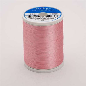 Sulky 40 wt 850 Yard Rayon Thread - 943-1225 - Pastel Pink