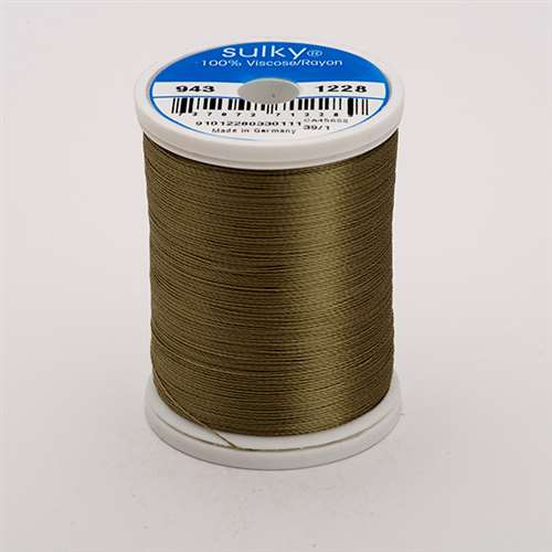Sulky 40 wt 850 Yard Rayon Thread - 943-1228 - Drab Green
