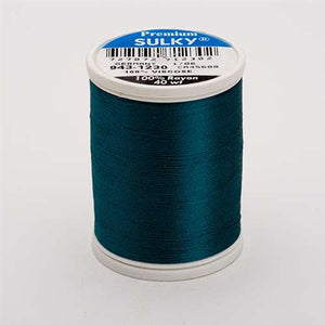 Sulky 40 wt 850 Yard Rayon Thread - 943-1230 - Dark Teal