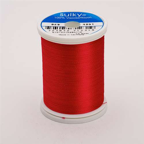 Sulky 40 wt 850 Yard Rayon Thread - 943-1231 - Med Rose