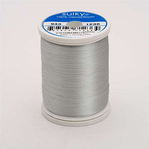 Sulky 40 wt 850 Yard Rayon Thread - 943-1236 - Light Silver