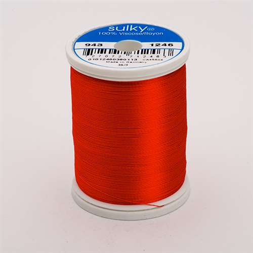Sulky 40 wt 850 Yard Rayon Thread - 943-1246 - Orange Flame