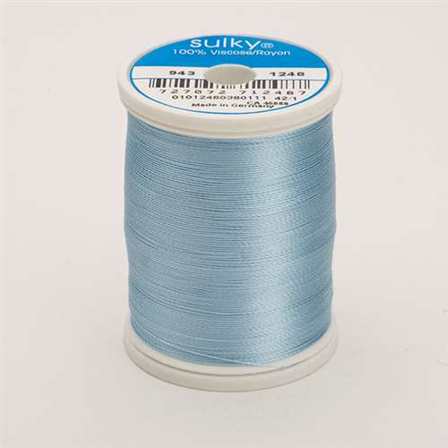 Sulky 40 wt 850 Yard Rayon Thread - 943-1248 - d Pastel Blue
