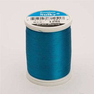 Sulky 40 wt 850 Yard Rayon Thread - 943-1251 - Br. Turquoise