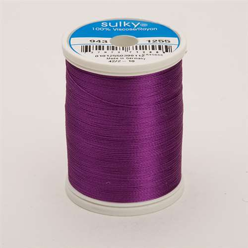 Sulky 40 wt 850 Yard Rayon Thread - 943-1255 - Deep Orchid