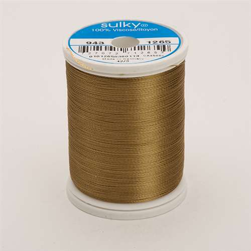 Sulky 40 wt 850 Yard Rayon Thread - 943-1265 - Burnt Toast