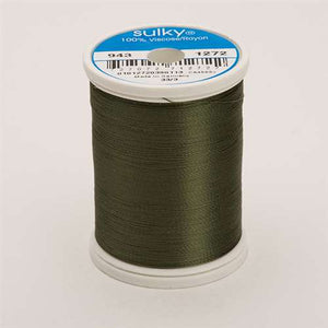 Sulky 40 wt 850 Yard Rayon Thread - 943-1272 - Hedge Green