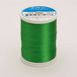 Sulky 40 wt 850 Yard Rayon Thread - 943-1277 - Ivy Green