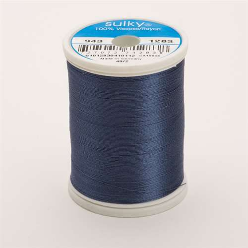 Sulky 40 wt 850 Yard Rayon Thread - 943-1283 - Slate Gray