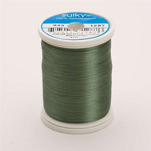 Sulky 40 wt 850 Yard Rayon Thread - 943-1287 - French Green
