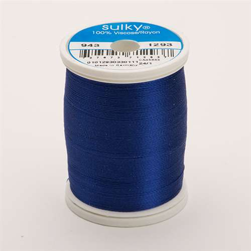 Sulky 40 wt 850 Yard Rayon Thread - 943-1293 - Deep Nassau Blue
