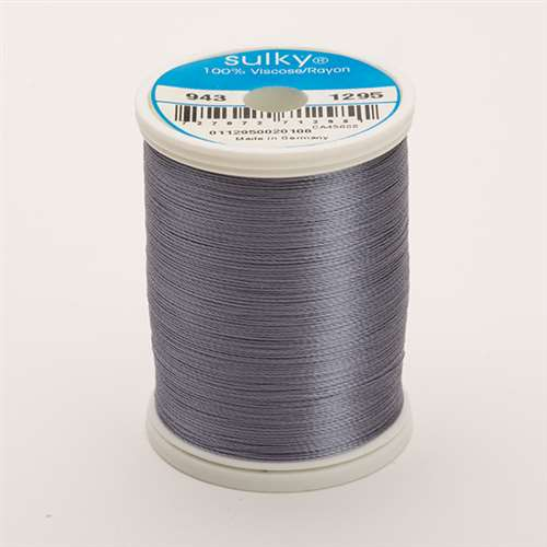 Sulky 40 wt 850 Yard Rayon Thread - 943-1295 - Sterling