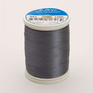 Sulky 40 wt 850 Yard Rayon Thread - 943-1306 - Gun Metal Gray