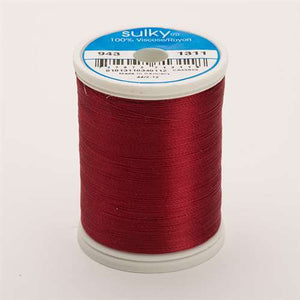 Sulky 40 wt 850 Yard Rayon Thread - 943-1311 - Mulberry