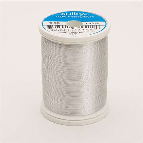 Sulky 40 wt 850 Yard Rayon Thread - 943-1325 - Whisper Gray
