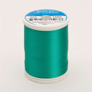 Sulky 40 wt 850 Yard Rayon Thread - 943-1503 - Green Peacock