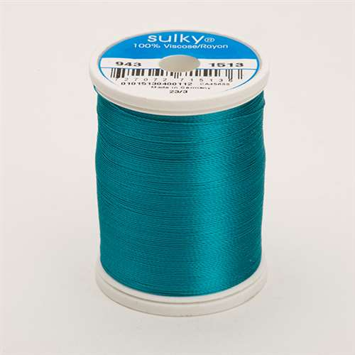 Sulky 40 wt 850 Yard Rayon Thread - 943-1513 - Wild Peacock