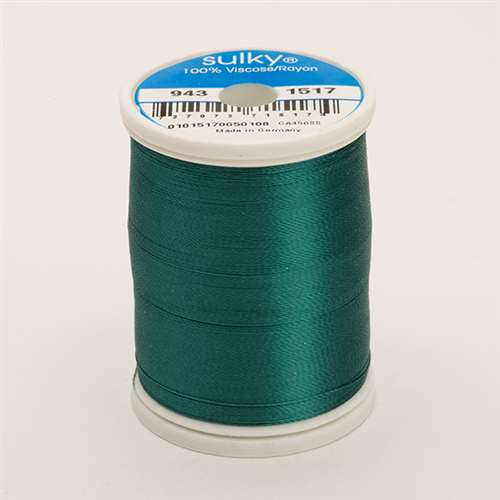 Sulky 40 wt 850 Yard Rayon Thread - 943-1517 - Coachman Green