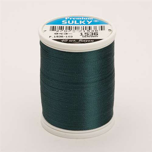 Sulky 40 wt 850 Yard Rayon Thread - 943-1536 - Midnight Teal