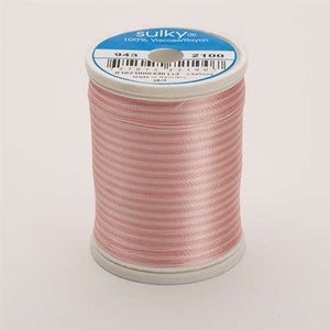 Sulky 40 wt 850 Yard Rayon Thread - 943-2100 - Past/Pink Var