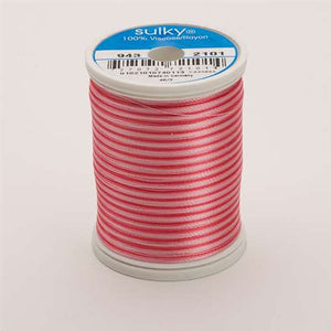 Sulky 40 wt 850 Yard Rayon Thread - 943-2101 - Pinks Var.