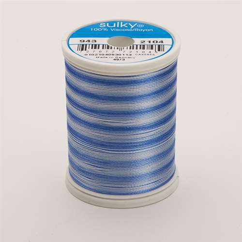Sulky 40 wt 850 Yard Rayon Thread - 943-2104 - Past/Blue Var