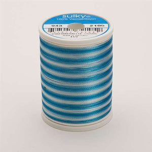 Sulky 40 wt 850 Yard Rayon Thread - 943-2105 - Teal Blue Var