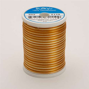 Sulky 40 wt 850 Yard Rayon Thread - 943-2119 - Lt Browns Var