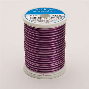 Sulky 40 wt 850 Yard Rayon Thread - 943-2124 - Purples Var