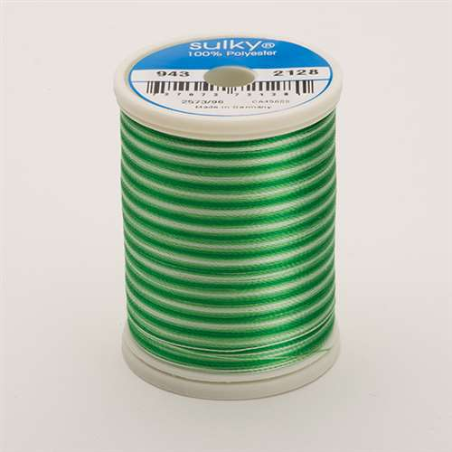 Sulky 40 wt 850 Yard Rayon Thread - 943-2128 - Willow Greens Var
