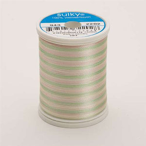 Sulky 40 wt 850 Yard Rayon Thread - 943-2202 - Mint Greens/Pink