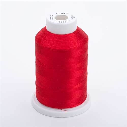 Sulky 40 wt 1500 Yard Rayon Thread - 944-1039 - True Red