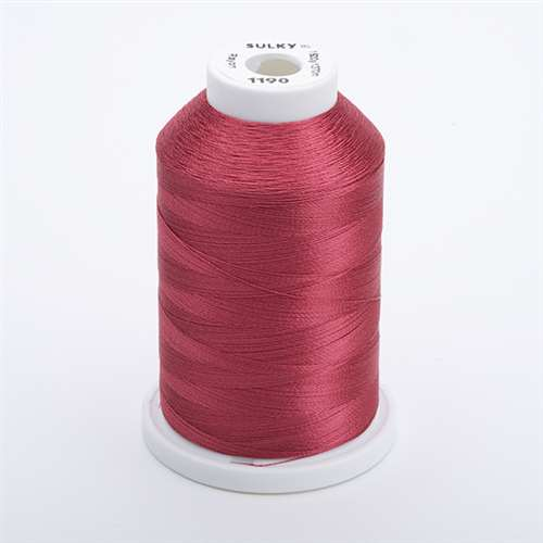 Sulky 40 wt 1500 Yard Rayon Thread - 944-1190 - Med. Burgundy