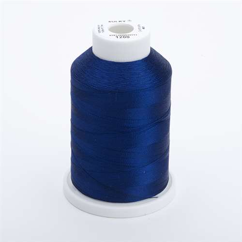 Sulky 40 wt 1500 Yard Rayon Thread - 944-1200 - Med Dark Navy