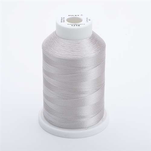 Sulky 40 wt 1500 Yard Rayon Thread - 944-1218 - Silver Gray