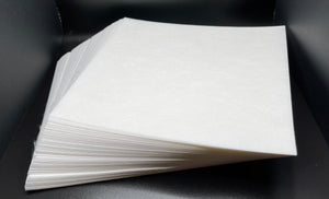 "2.5oz White Cut A-Way Stabilizer Squares - 7.5"" x 8"""
