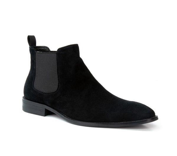 Hume Black Suede