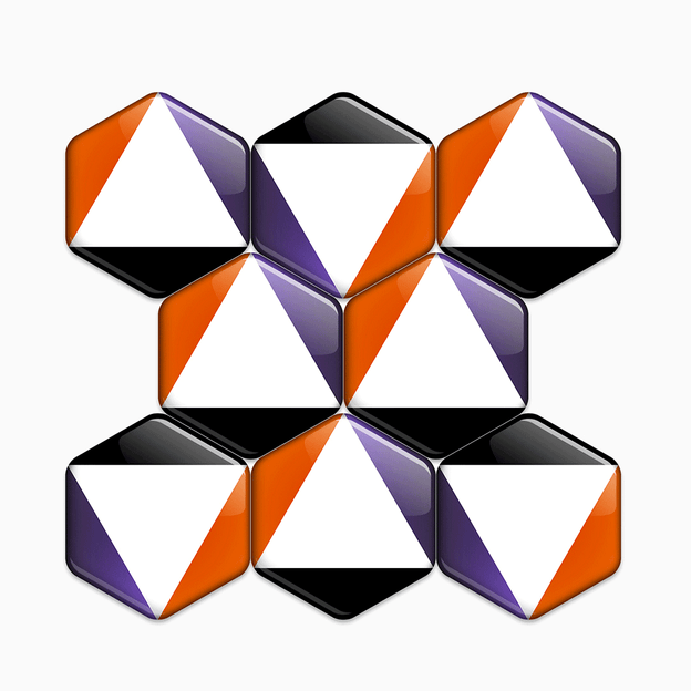 Artyhills Hexagonal Magnets excellent pattern designs for your refrigerator