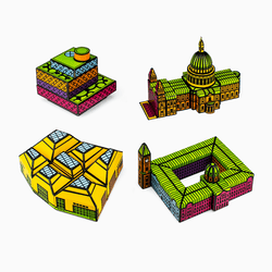 Foxetroo Bundle of Cut-out Paper Models