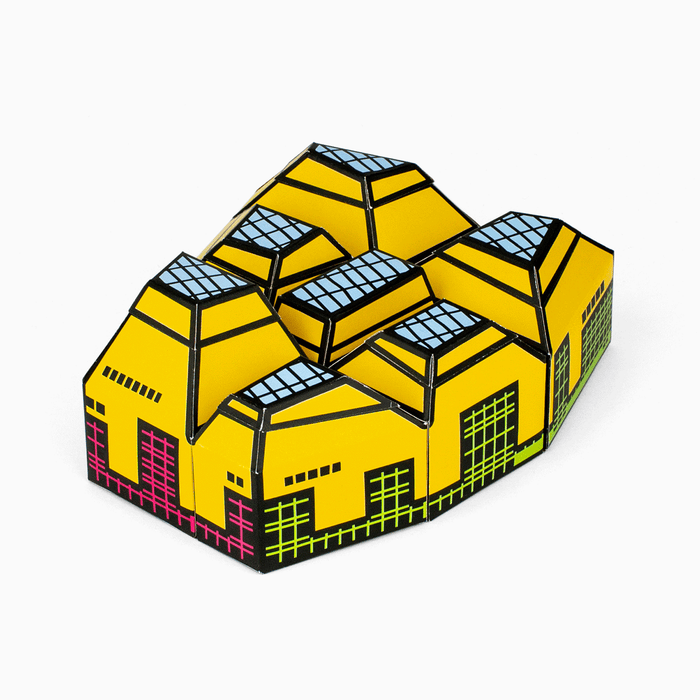 Foxetroo Cut-out Paper Model of The Hive Library in Worcester