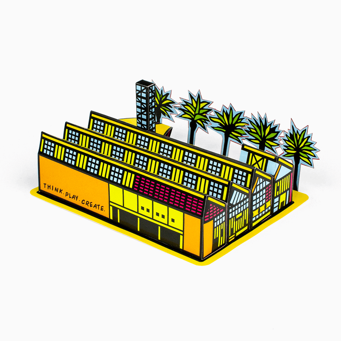 Foxetroo Cut-out Paper Model of The New Children's Museum in San Diego California