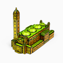 Foxetroo Cut-out Paper Model Cover of Westminster Cathedral London