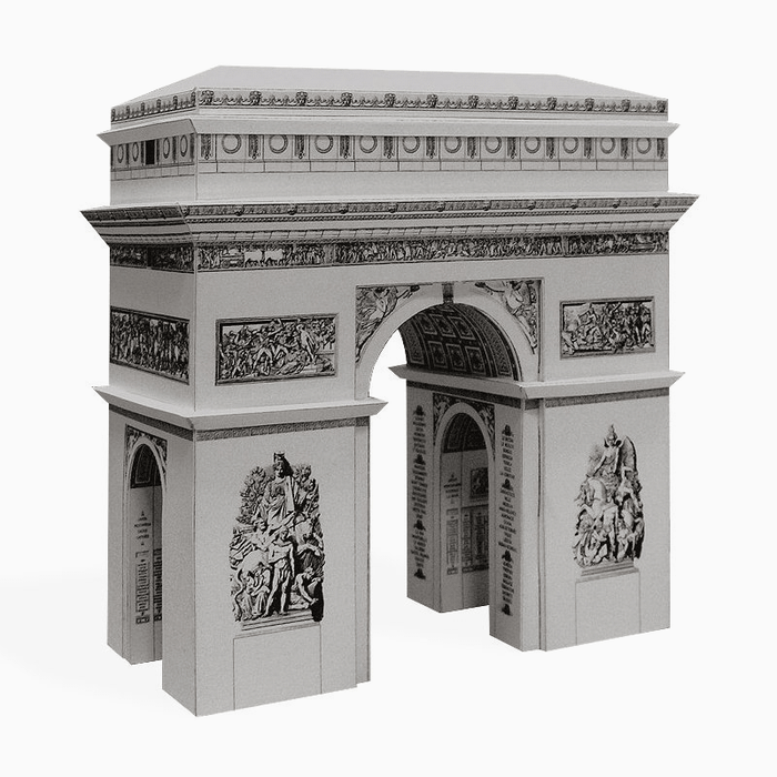 Arc de Triomphe Paper Model by PaperLandmarks Silver