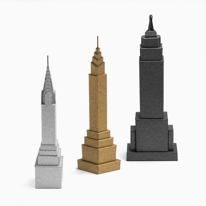 Art Deco Inspired Skyscrapers - paper model kit by PaperLandmarks