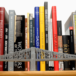 Brooklyn Bridge Paper Model by PaperLandmarks Silver Detail