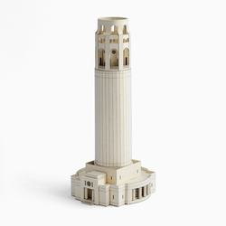 Coit Tower Paper Model by PaperLandmarks Limestone