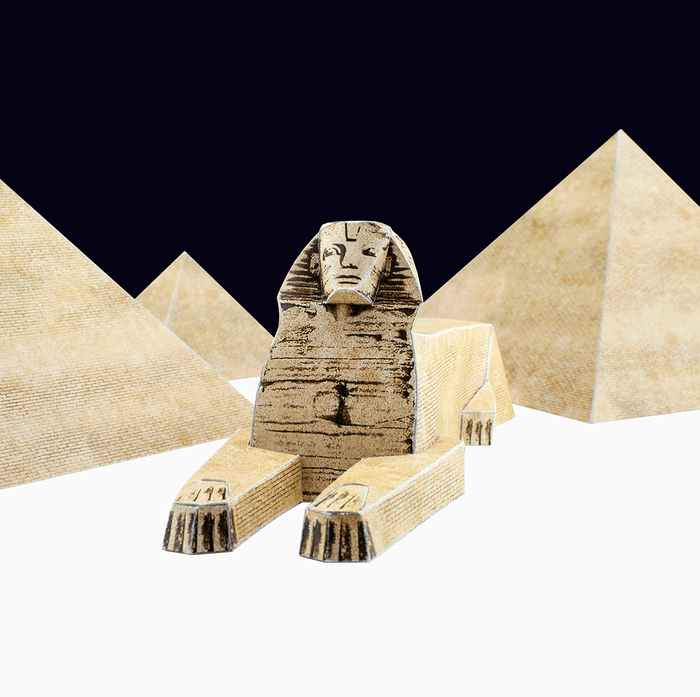Sphinx and Egyptian Pyramids Paper Model by PaperLandmarks