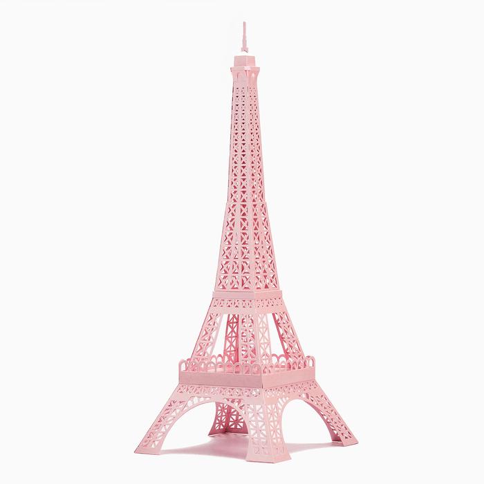 Eiffel Tower Paper Model Pink Colour by PaperLandmarks