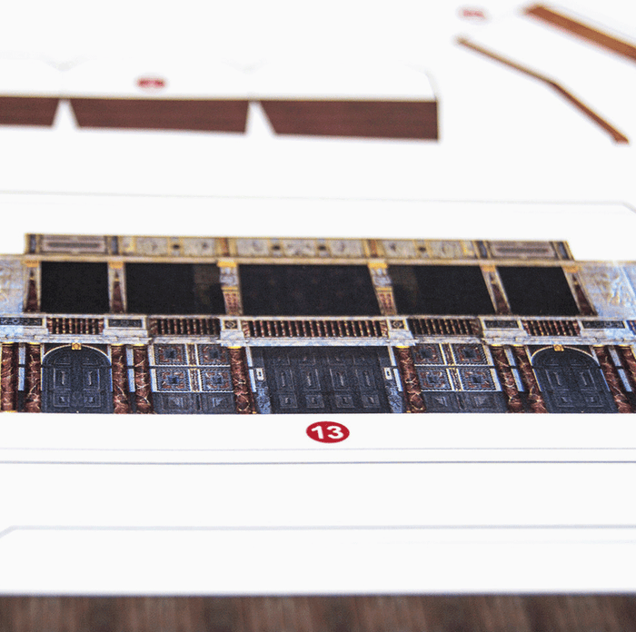 Globe Theatre Paper Model Kit by PaperLandmarks Detail Closeup