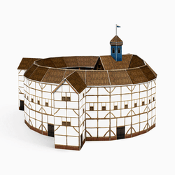 Globe Theatre Paper Model by PaperLandmarks